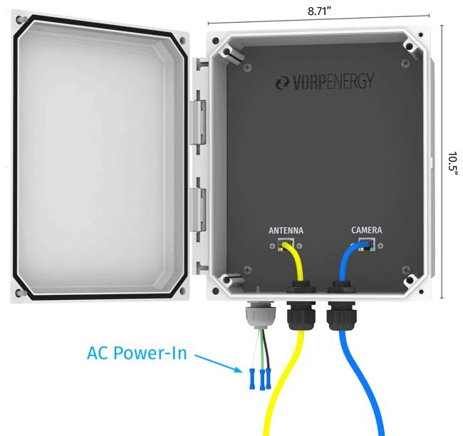 Vorp Energy PC1-1af AC to DC Light Pole Power Tap / Conversion Kit for Surveillance / Communications Equipment