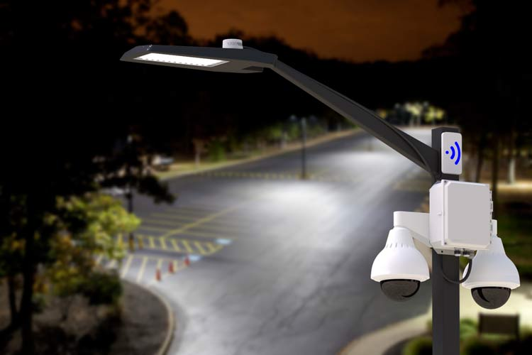 Use the VTAP Light Pole Power Tap for Easy IP Camera Power at a Light Pole