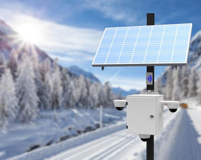Outdoor Solar Powered Surveillance Cameras
